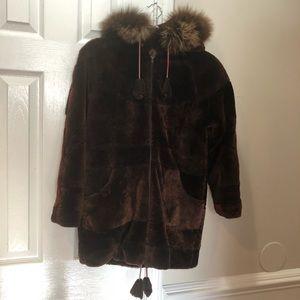 Vintage Mink Fur Coat Jacket XS